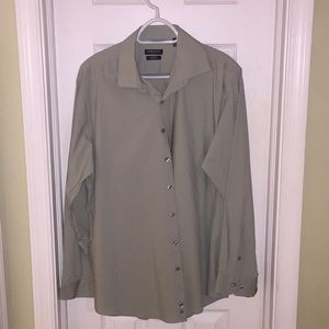 🍏 3/$20 Men's Dress Shirt Sage Slim Fit